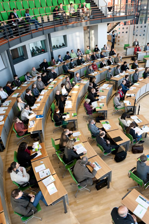"a look at participants in the ""Sächsische Landtag"""
